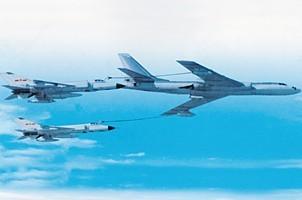 歼-8D空中加油
