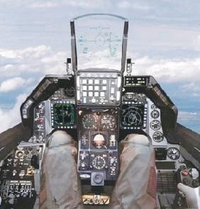 F16C座舱布局及右侧操纵杆上的多个发射按钮