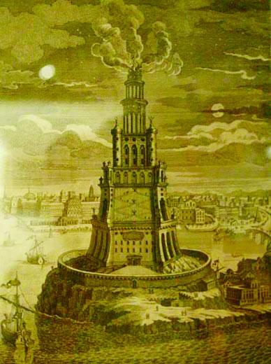 亚历山大灯塔想象图